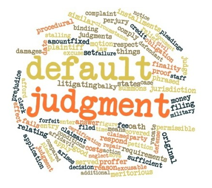 Default Judgment Void & Statement Of Damages Rejected In Non-P.I. Default.
