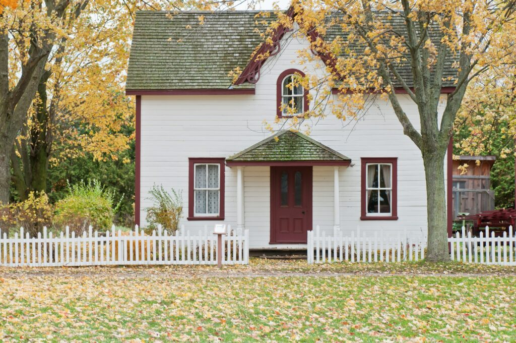 white house in the fall - Inland Empire foreclosure attorney